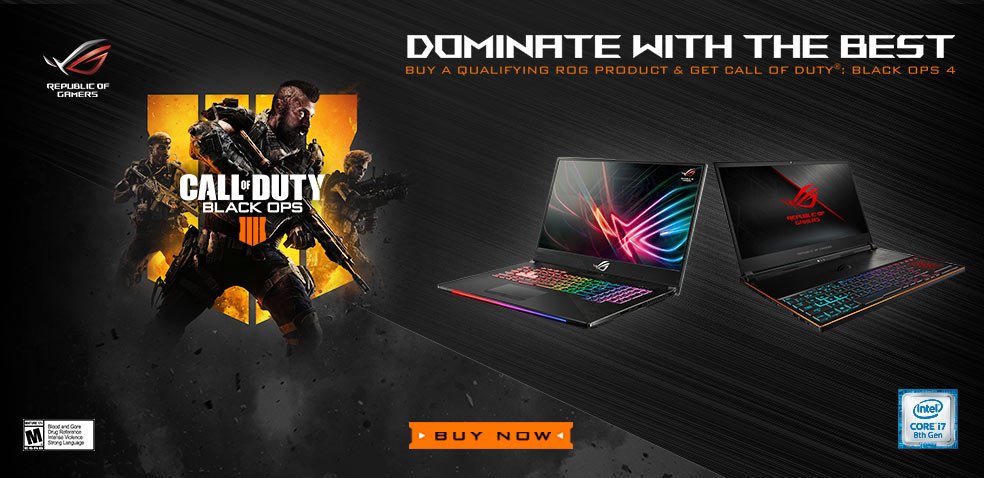 Dominate with the Best- Buy a Qualifying ROG Product and Get Call of Duty: Black OPS 4 - BUY NOW