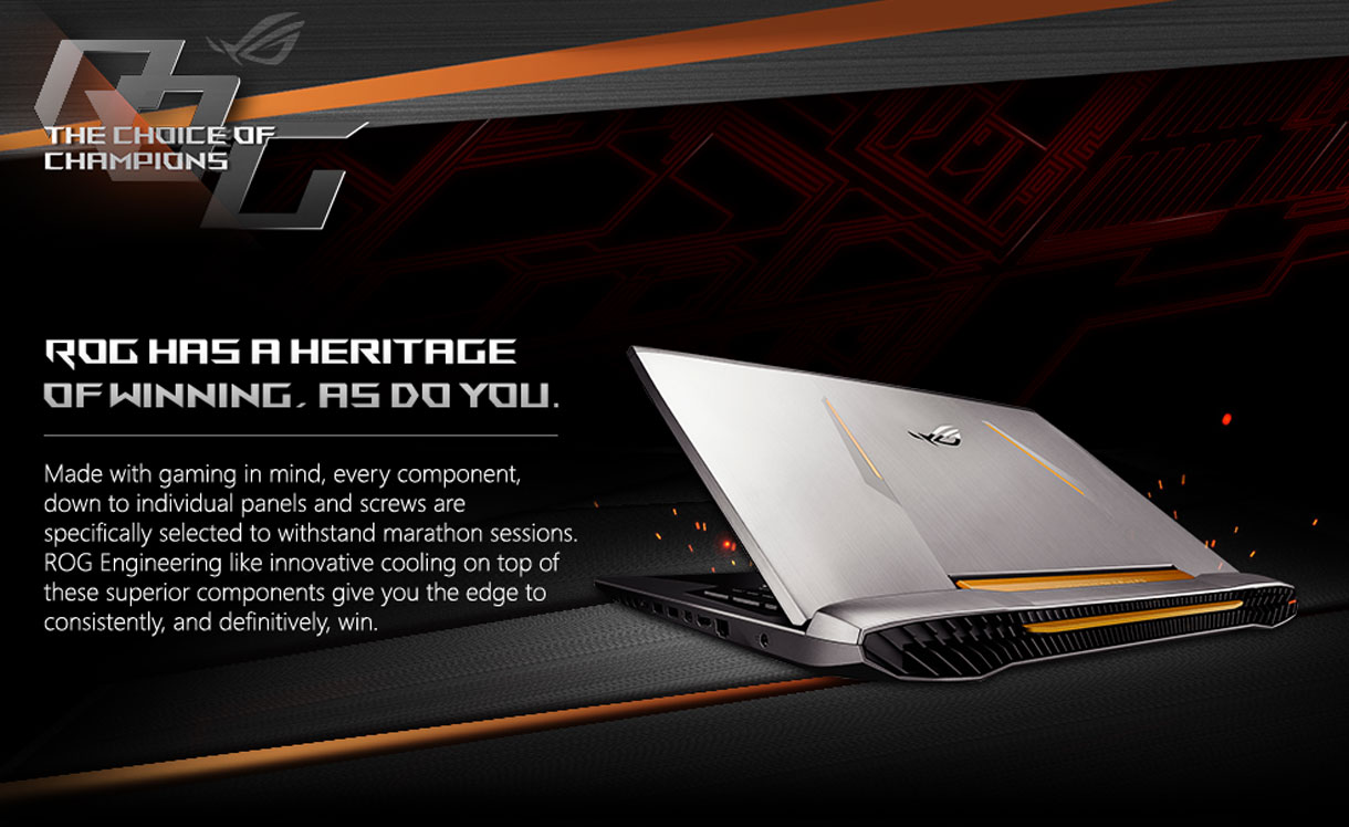 ASUS ROG has a heritage of winning. As do you.
