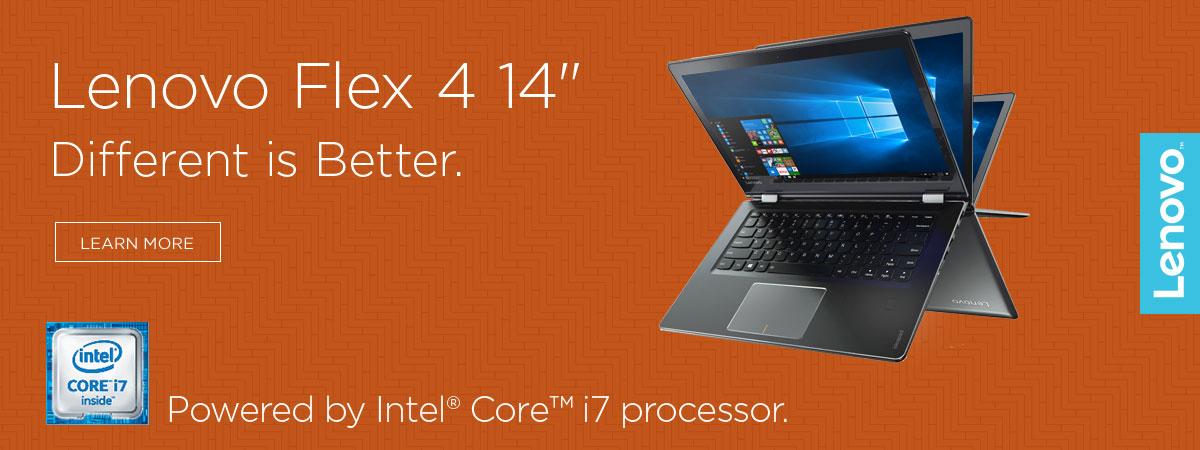 Lenovo Flex 4 14 inch - America's Best Selling Convertible 2-in-1 PC Brand.