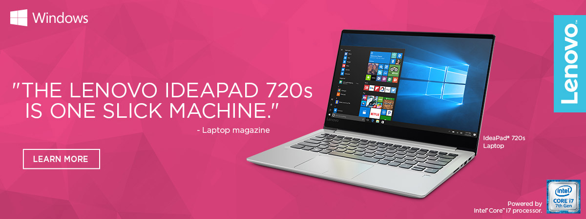 Lenovo IdeaPad 720s Laptop - Learn More.