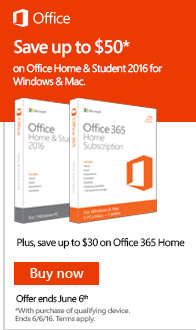 Save up to $50 on Office when purchased with a new PC, Tablet, or Mac!
