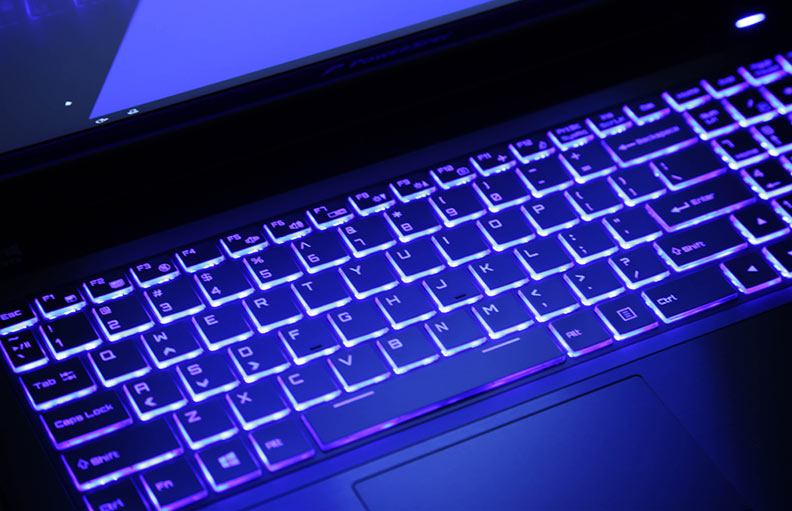 PowerSpec 1510 colorful lighted keyboard