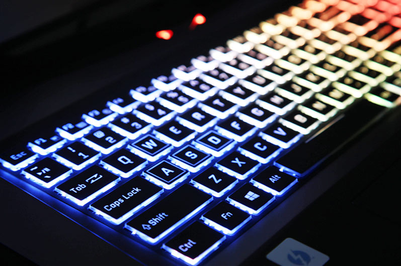 PowerSpec 1710 colorful lighted keyboard