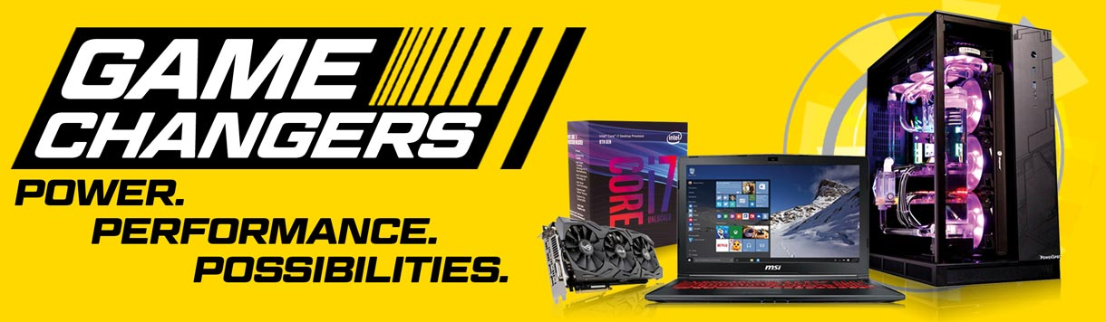 Game Changers. Power. Performance. Possibilities.