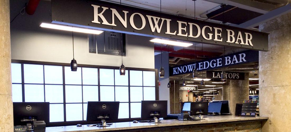 Stop by the Knowledge Bar