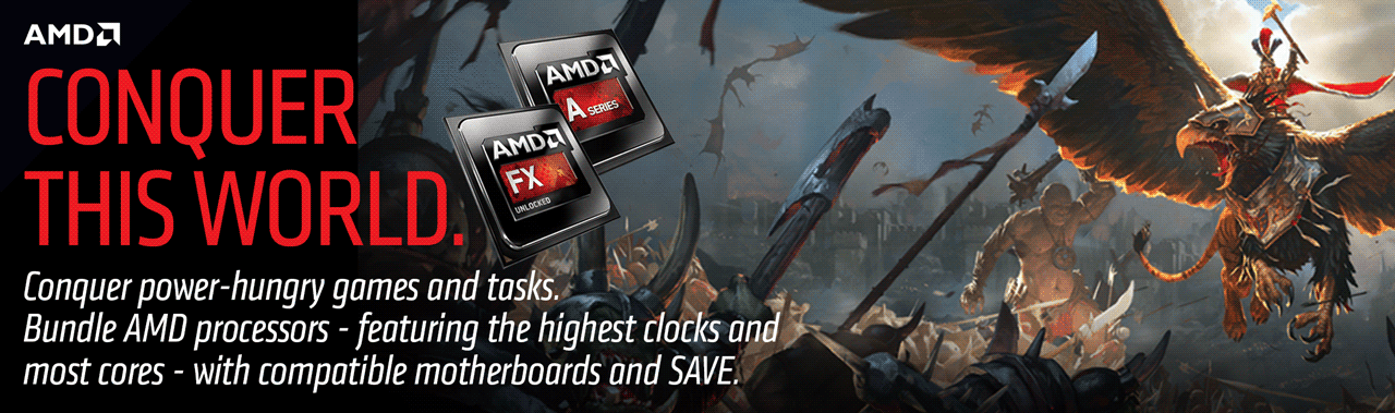 Bundle powerful AMD processors with compatible motherboards and save.
