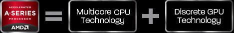 AMD A-Series = Multicore CPU Technology + Discrete GPU Technology
