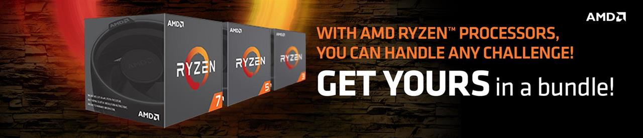 With AMD Ryzen Processors, you can handle any challenge! GET YOURS in a bundle!