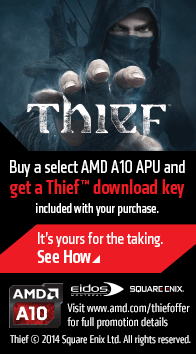 Buy a Select AMD A10 APU and get a Thief Download Key