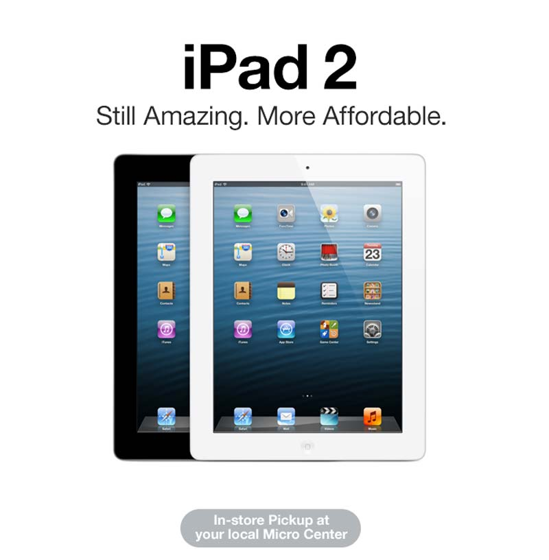 iPad 2 - Still Amazing. More Affordable.